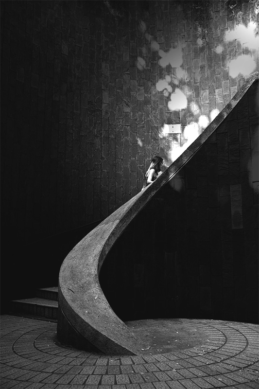 Out of the Shadow Taken on Jul 14, 2019 - Shadow Gallery  Every time I come to this place, it is crowded with youths, tourist, photographers, queuing patiently in the connected tunnel for one purpose alike, to get a picture taken on this spiral staircase…. more