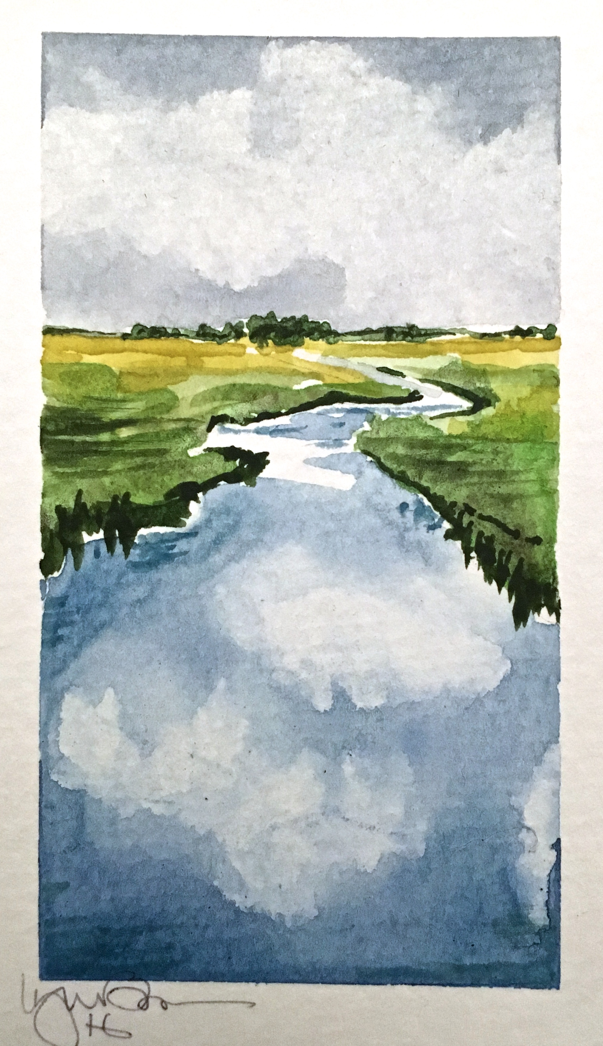 Lynn Bowes  Lynn's images of Nebraska landscapes are painted in watercolor and oils. Her work reflects the natural rural environment in which she lives.
