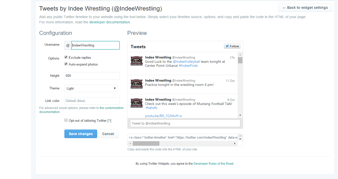 Independence Twitter Timeline for Wrestling Live Scoring