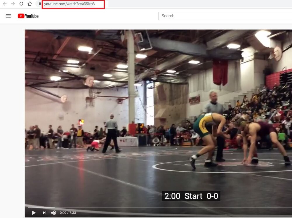Wrestling Video Uploaded to YouTube by Takedown Scoring and Stats