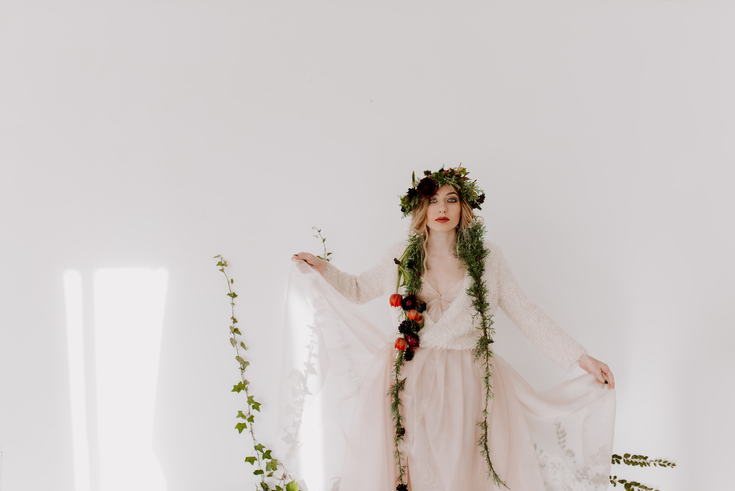Sarah Seven Blushing Winter Bridal Inspiration