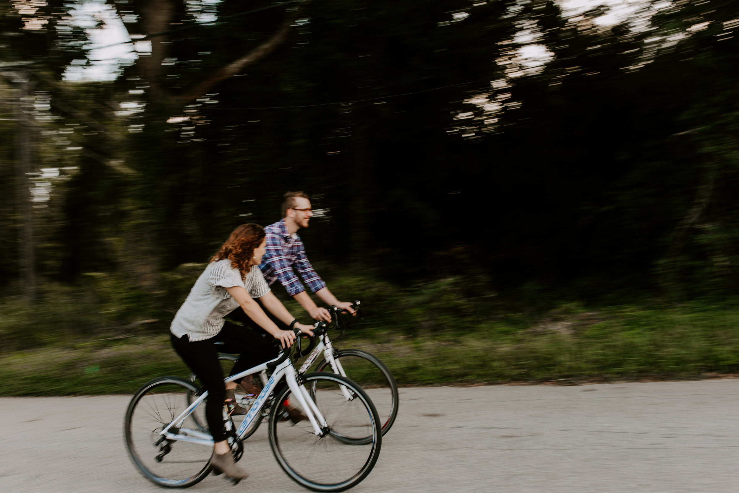 Bike Riding Engagement Photos