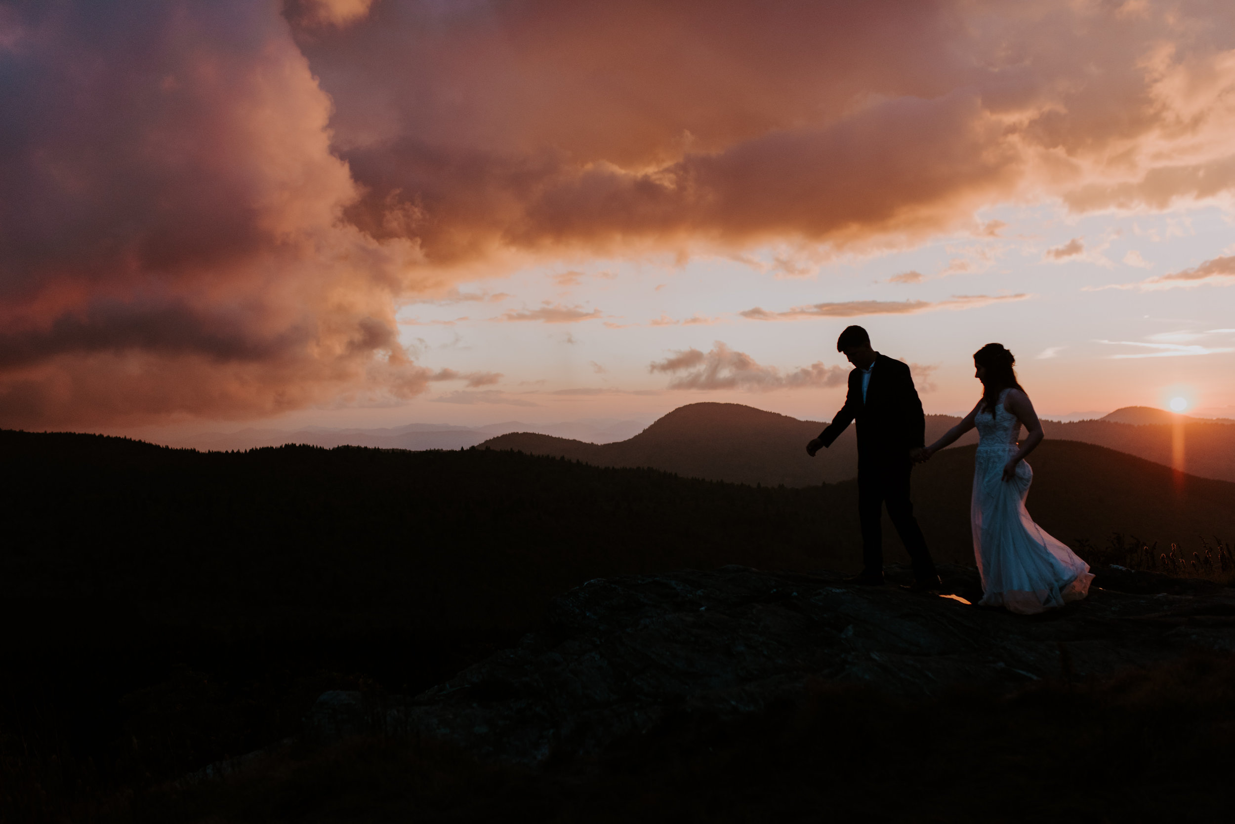 Sunset Mountain Asheville Wedding