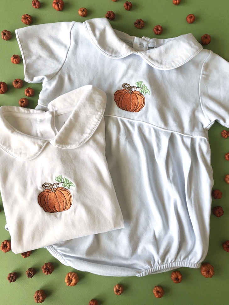 Pumpkin Embroidery from Calabash Card Co.
