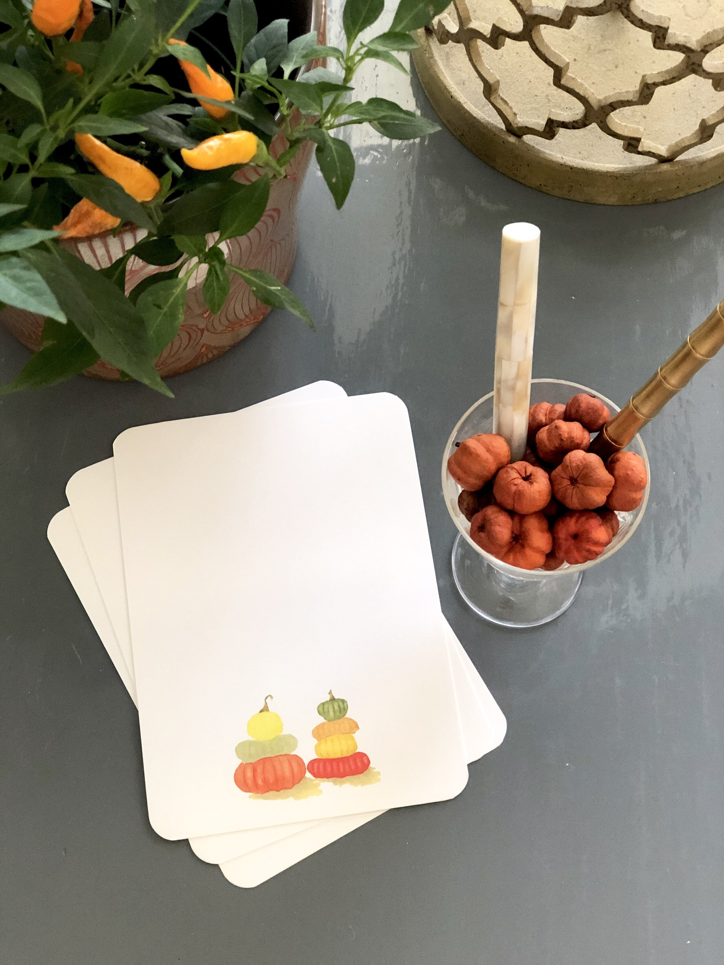 Pumpkin Notecard Set from Calabash Card Co.