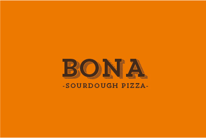 Bona sourdough pizza branding and illustration