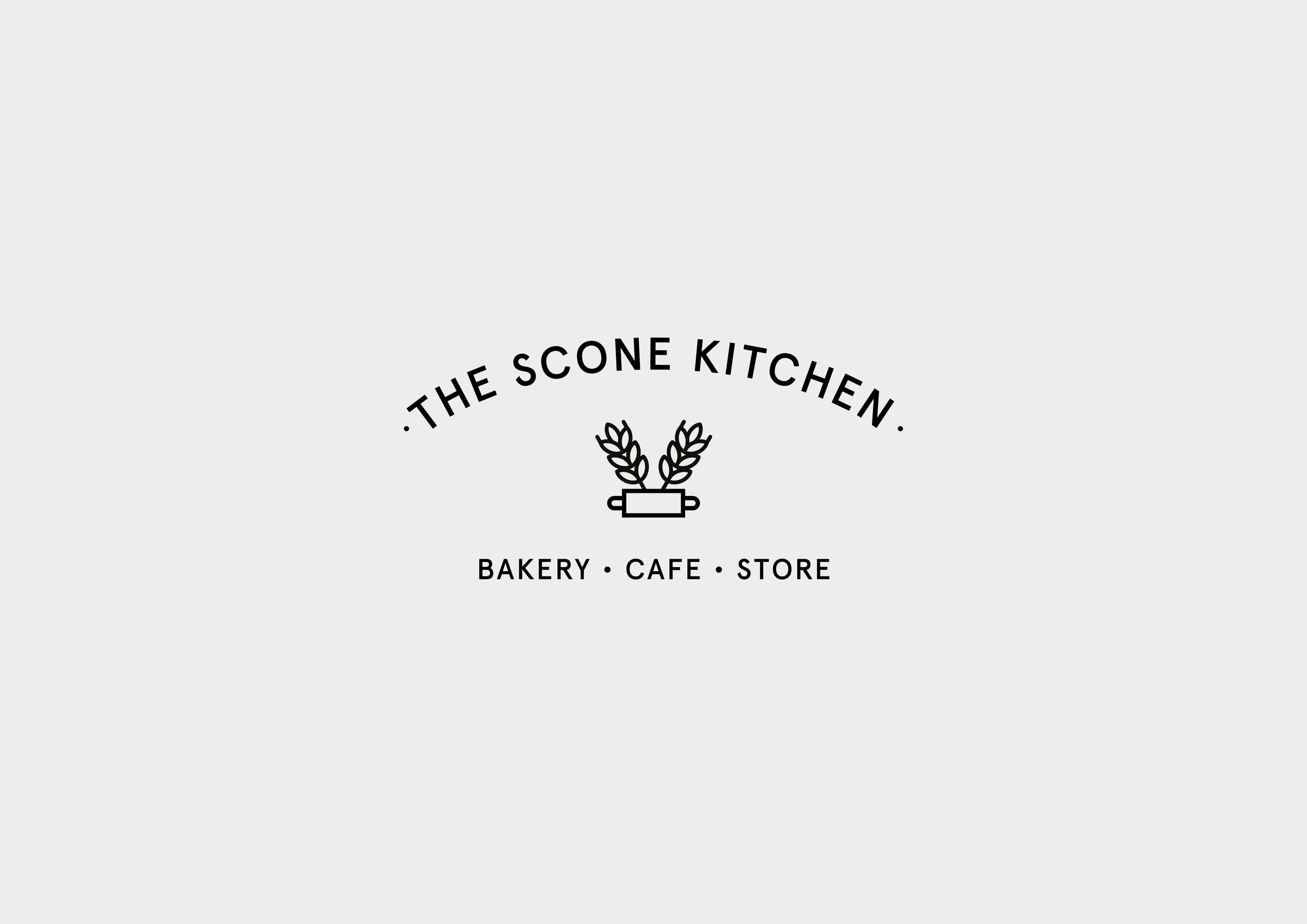 The Scone Kitchen cafe logo design