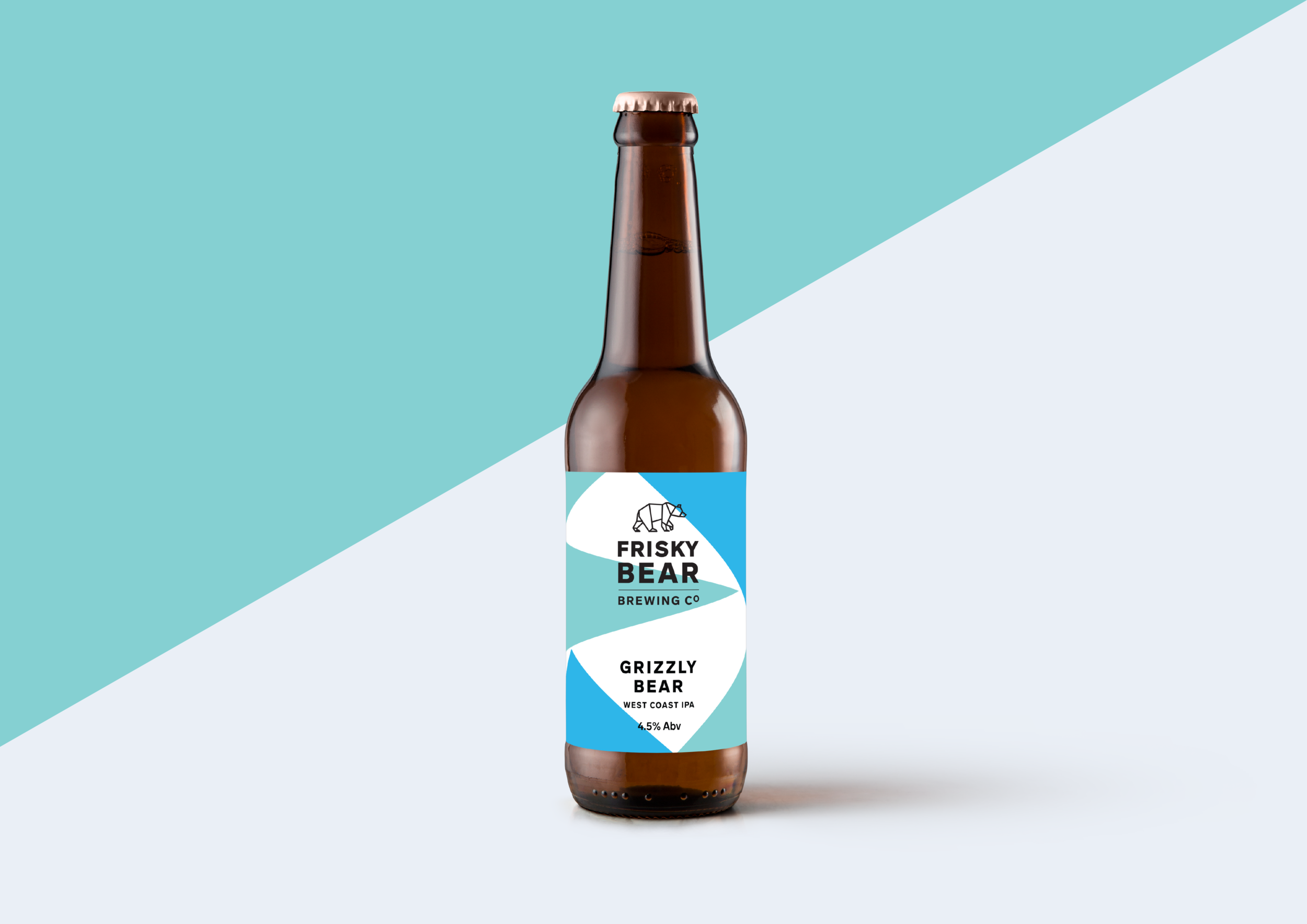 Branding and packaging design for Leeds based craft brewery Frisky Bear