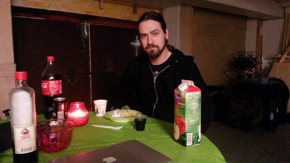 Mr- Producer #2 eating breakfast.