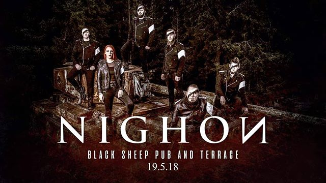 See you at @blacksheepjeppis 🤘🤘🤘 #nighon #live #music #metal #gig #jeppis