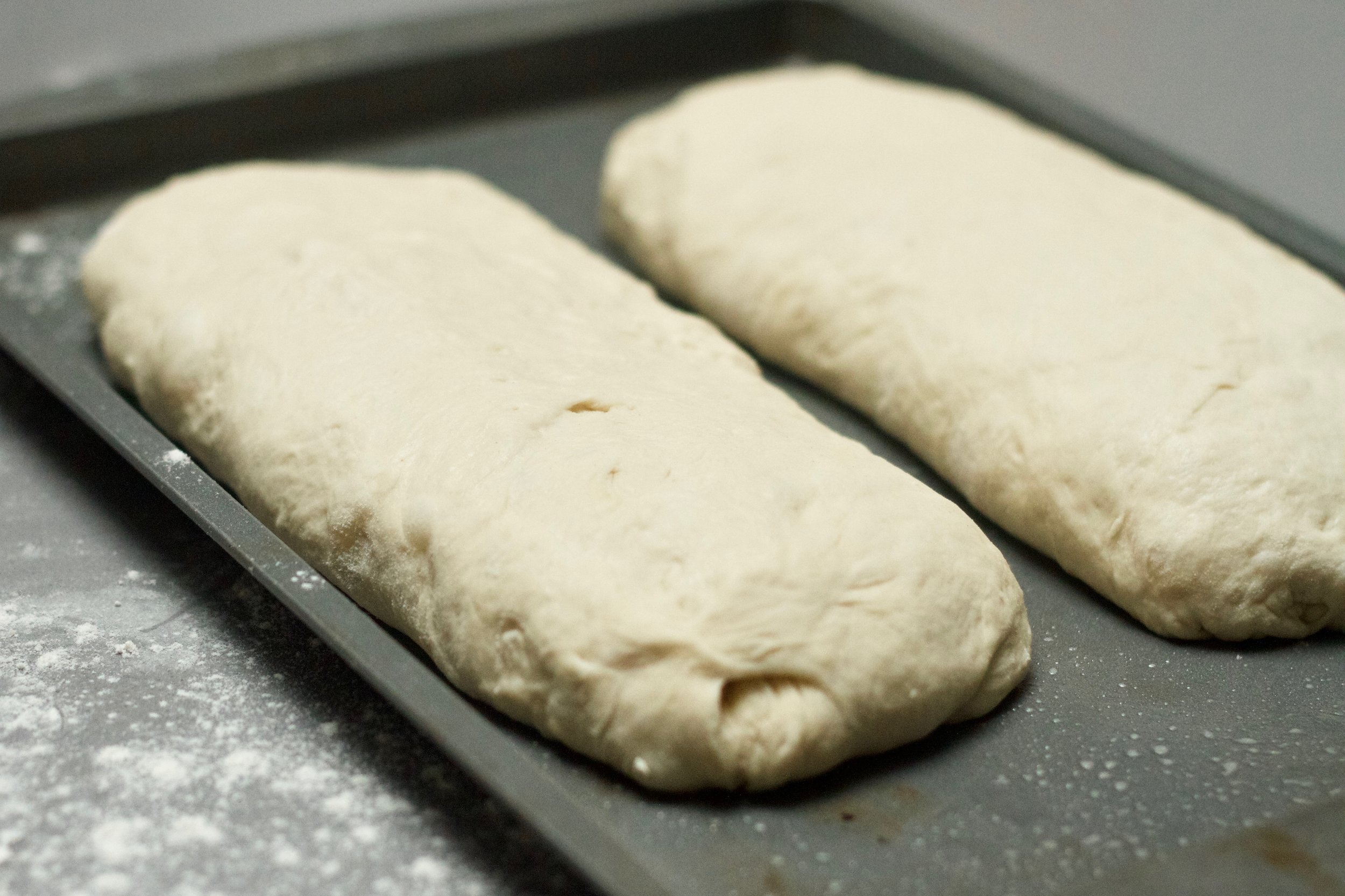Dividing the dough after the first rise