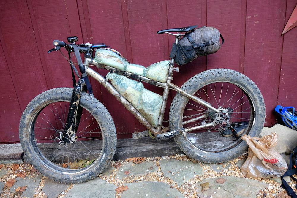 Scott Sidener's bike (singlespeed, fatbike, yo-yo finisher)