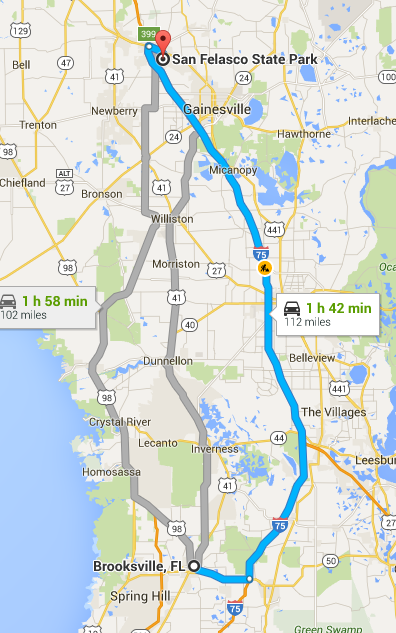 We'll have a two hour drive on Thursday night or Friday morning to start our second leg of the trip.