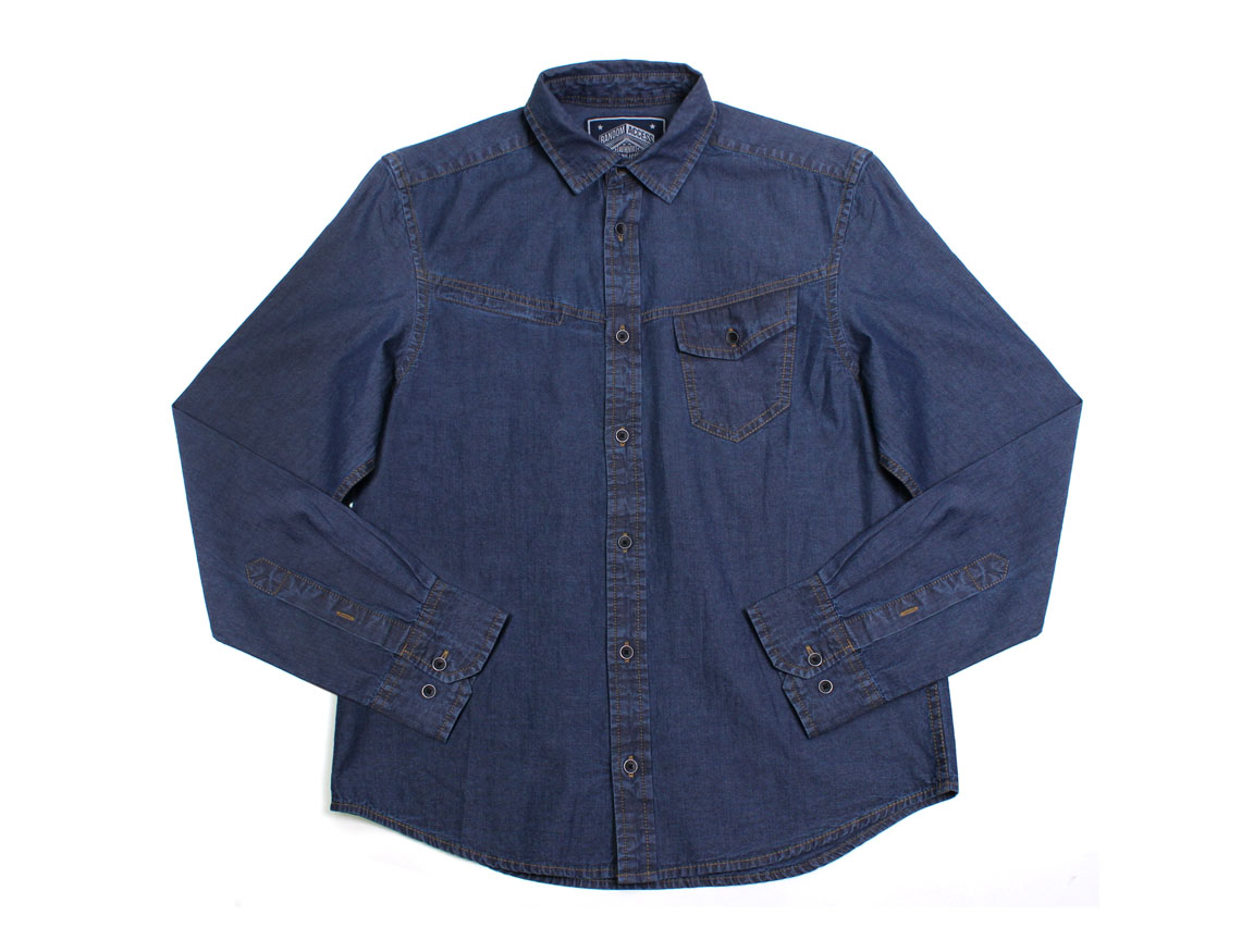 Carroll LS Button Up - Navy