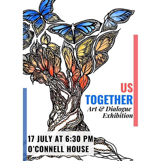 Tomorrow's the big day!🙌🏻 I feel honored to have the opportunity to show works from 14 incredible artists and writers as part of the #UsTogether Exhibition. If you're in Dublin, stop by the for some art, chats, & craic! Learn more/RSVP from the link in my bio... & swipe left to see sneak peaks of some of the visual work being shown!👀