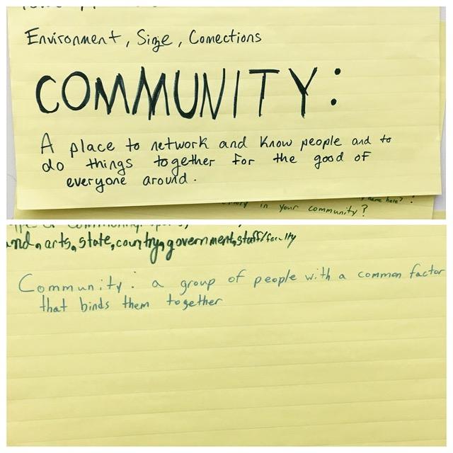 Community definitions