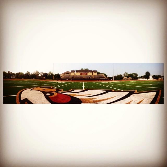 Coe's football field where I spent my Sundays working on my running skills.