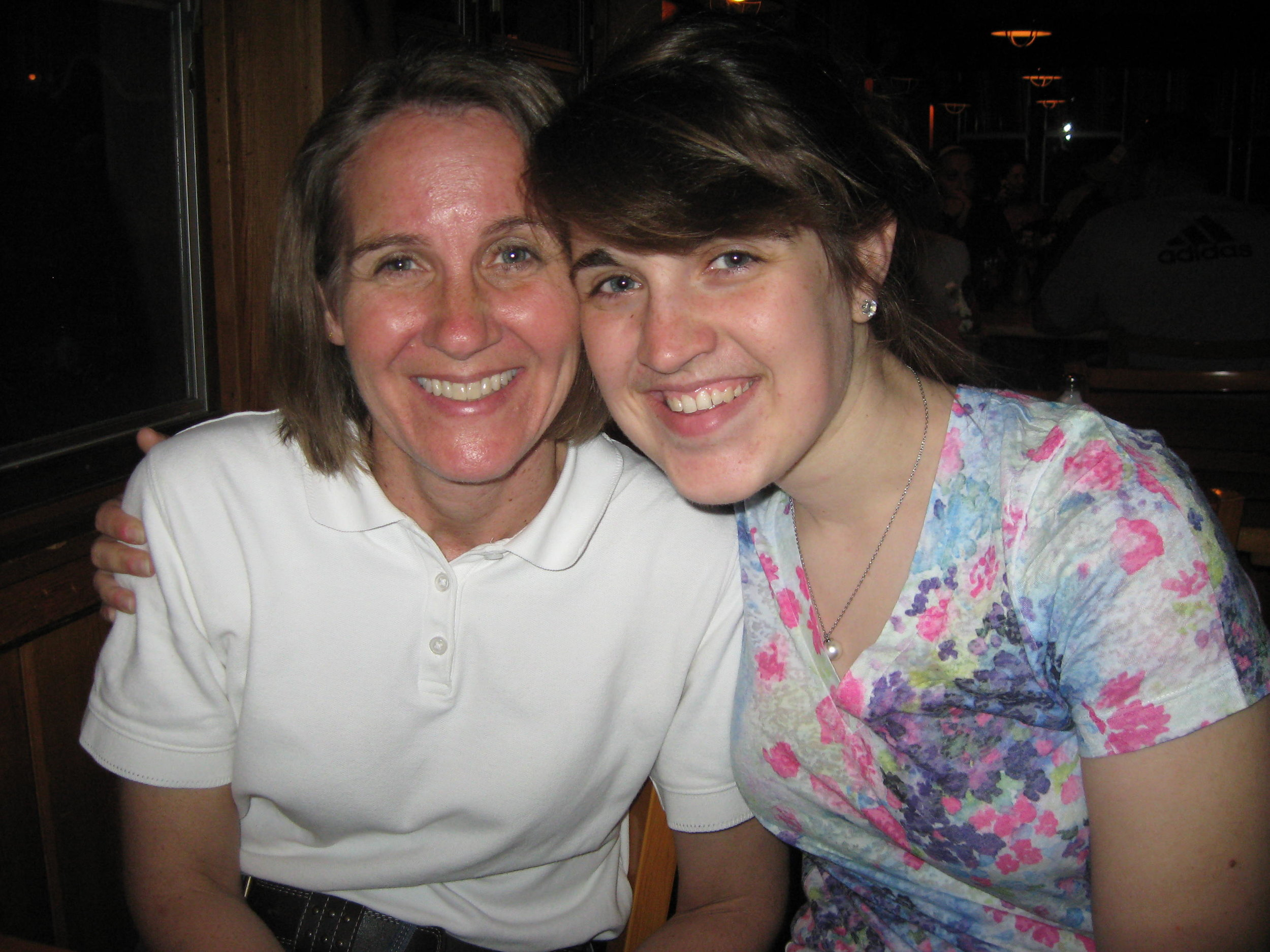 My mom and I on vacation, 2011.