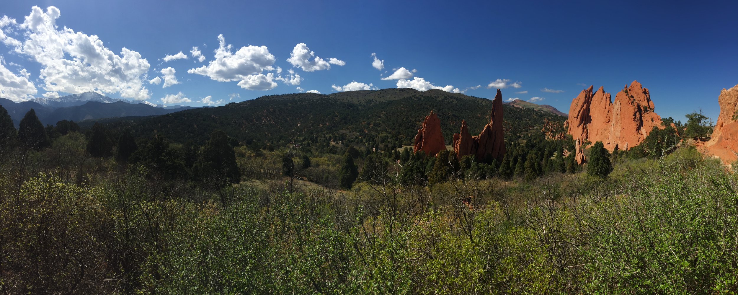 A view from the Garden of the Gods