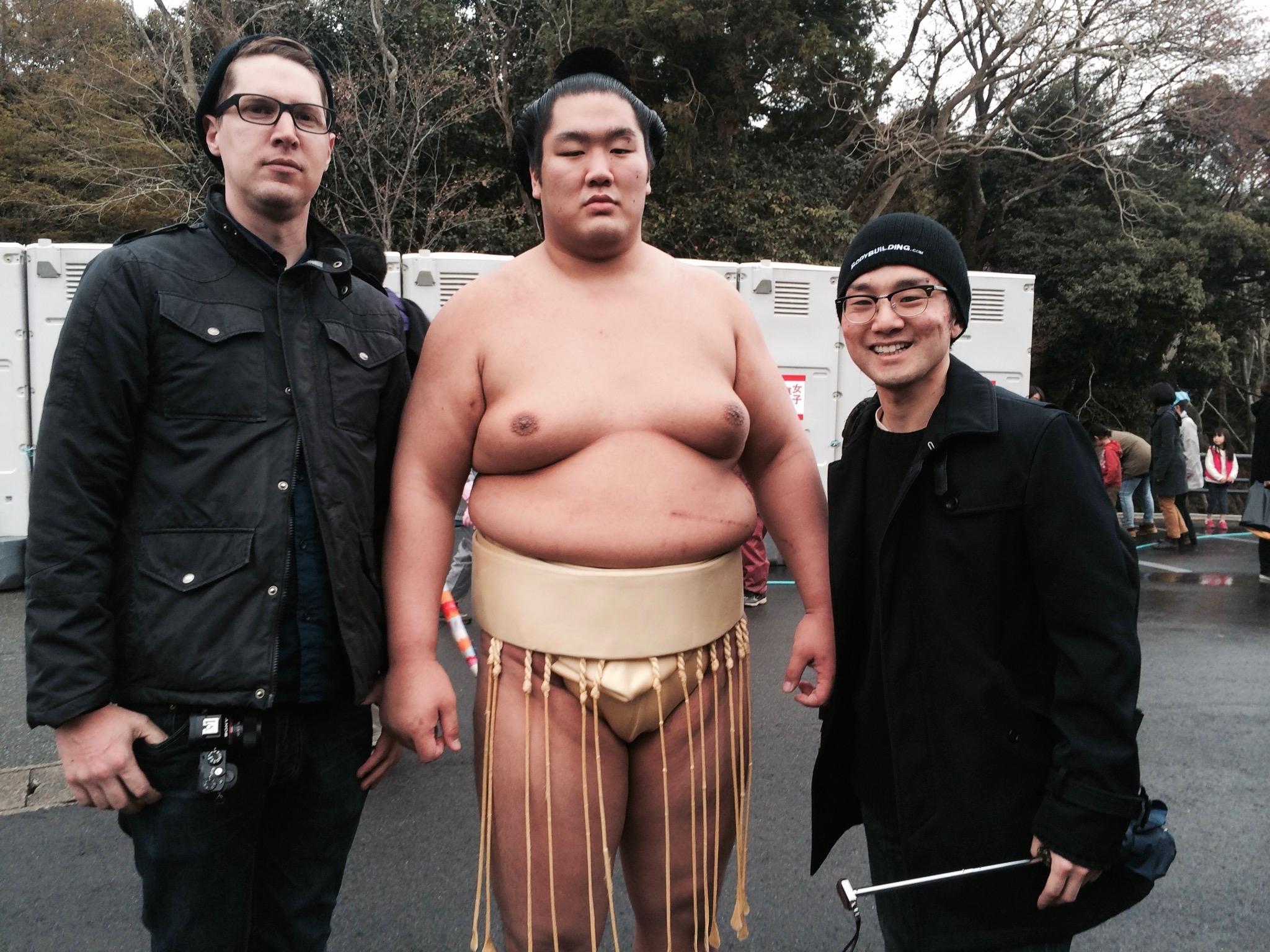 Me, Ueno san & a Sumo Wrestler