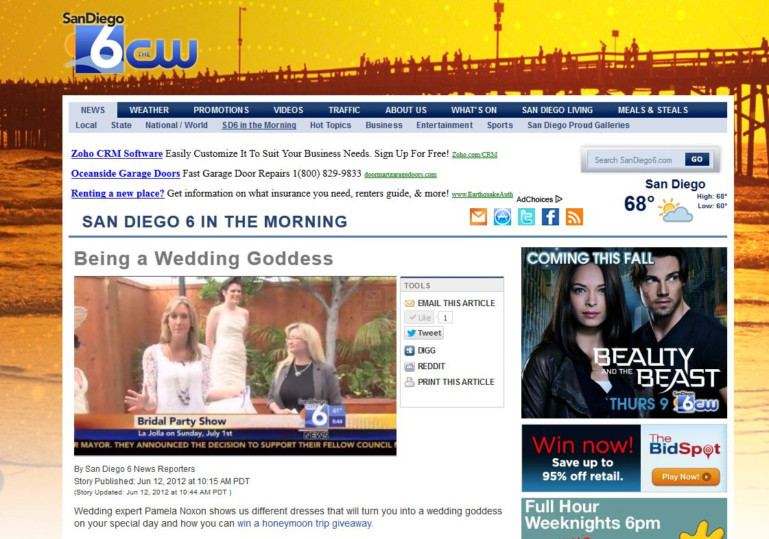 The CW 6 website with video interview.JPG