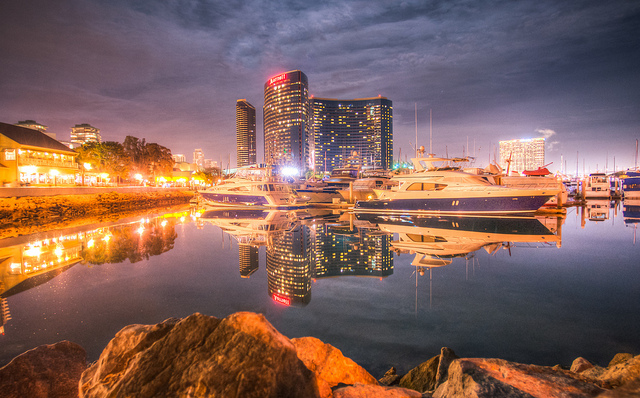 the Marriott Marquis San Diego - right along the water in the heart of downtown San Diego