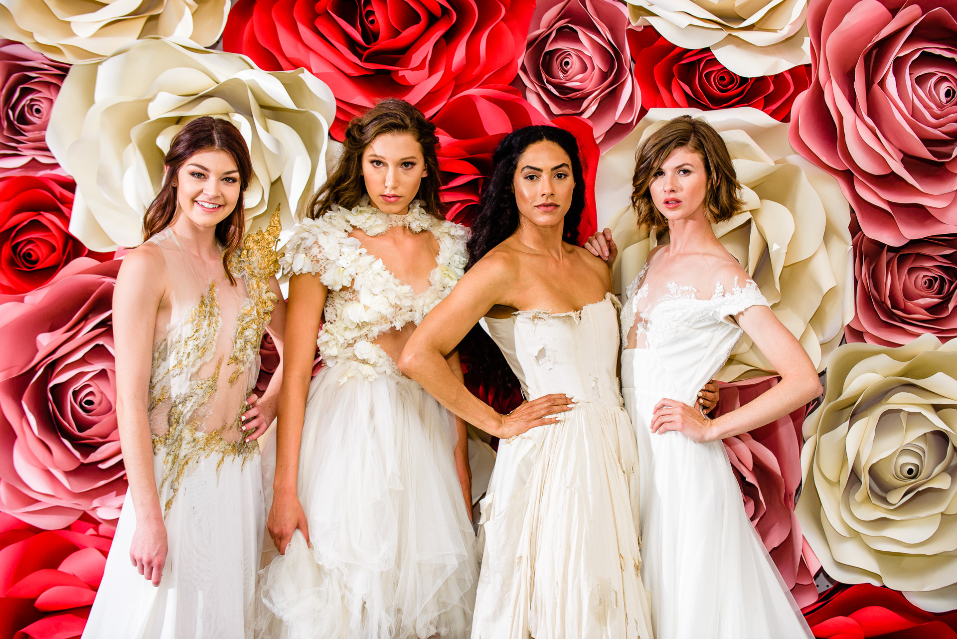 a few of our lovely models in Michelle Hebert  bridal gown  couture from the runway show!