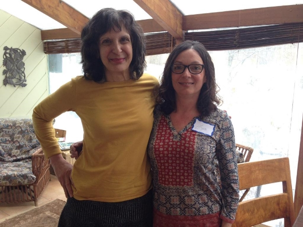 Beverly Donofrio and me after a fantastic day-long memoir workshop on Friday. It went by much too quickly!