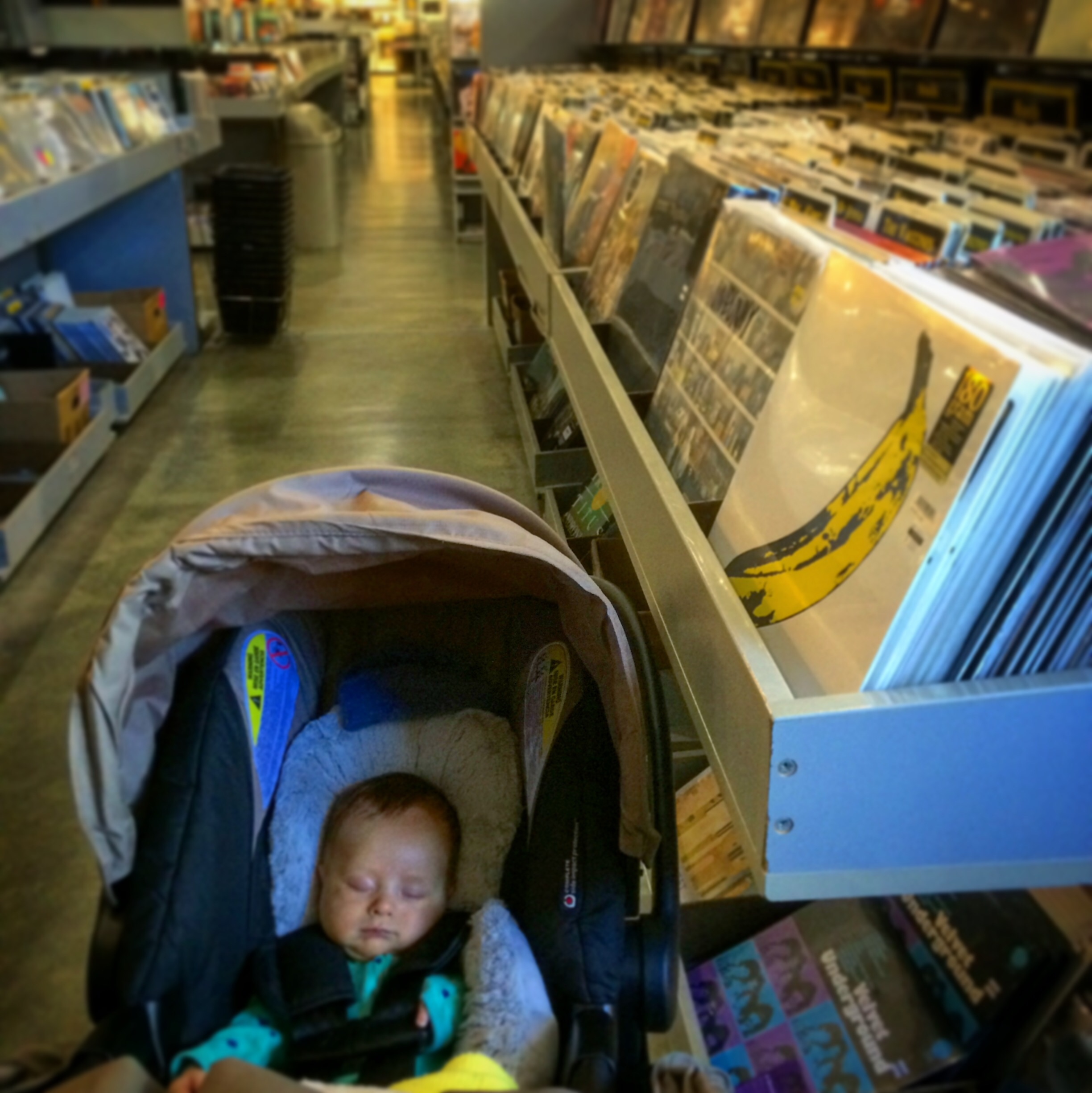 Shopping for records with Daddy!