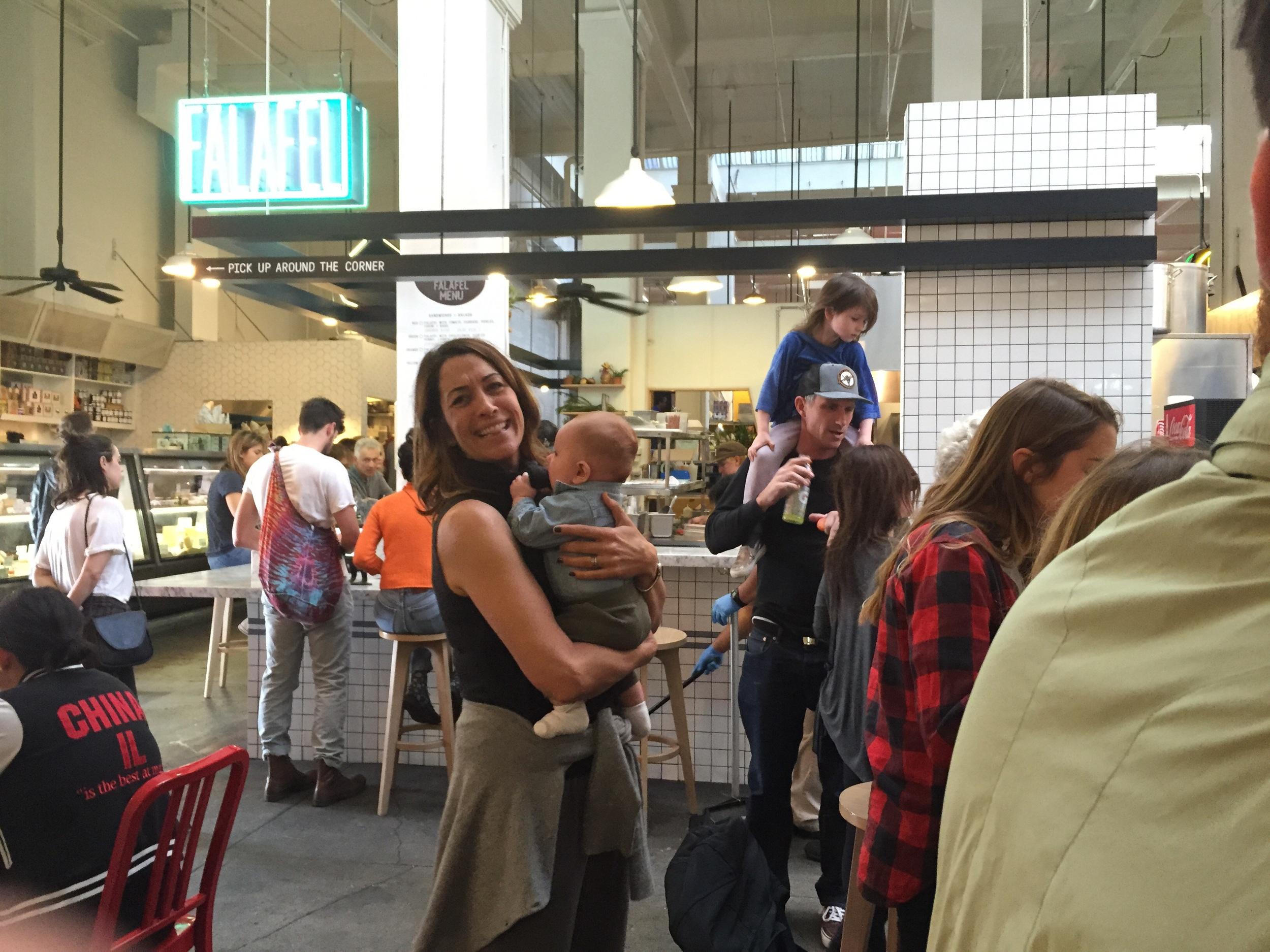 Having lunch at The Grand Central Market