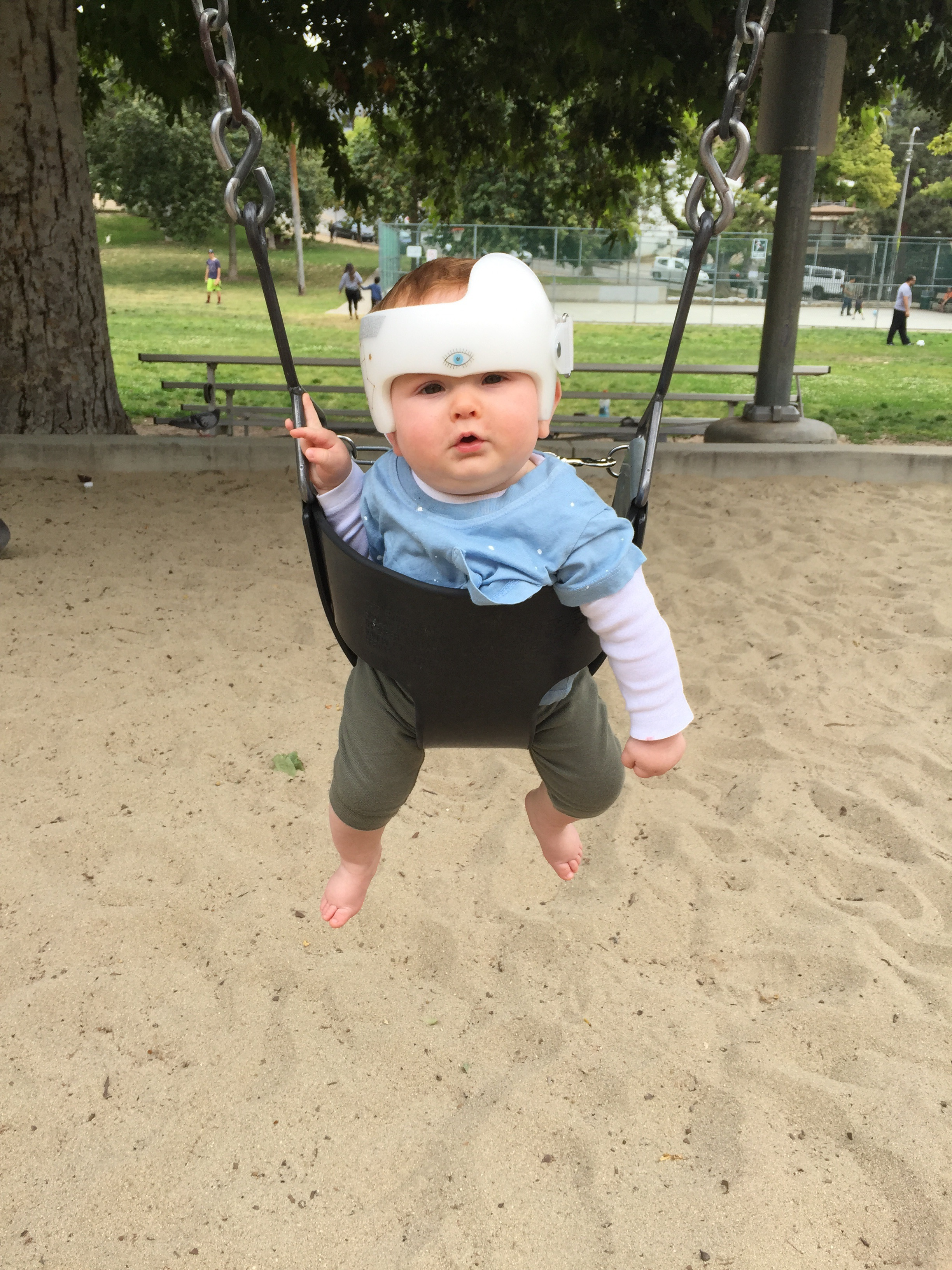 Nico took to swinging quickly