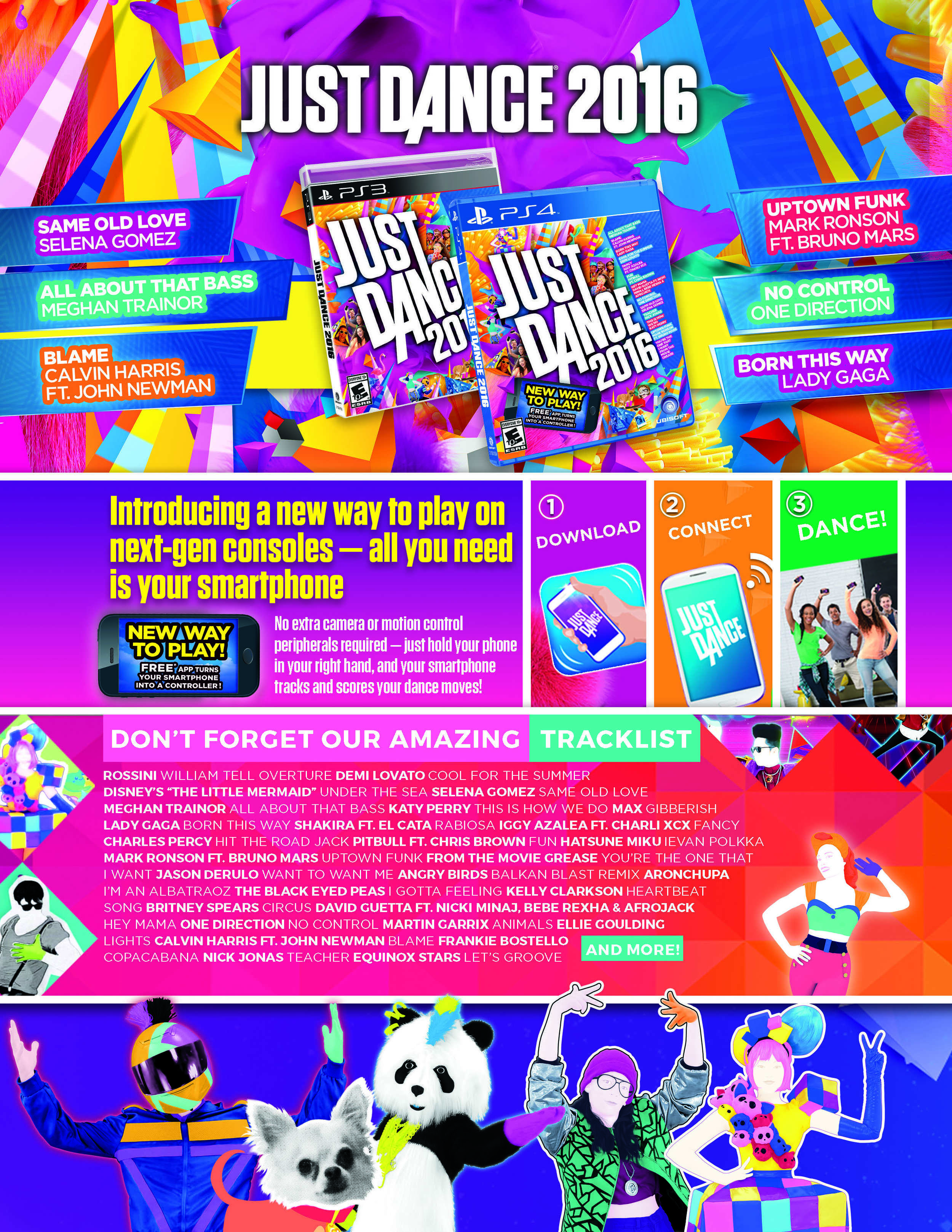Just Dance 2016 Infosheet