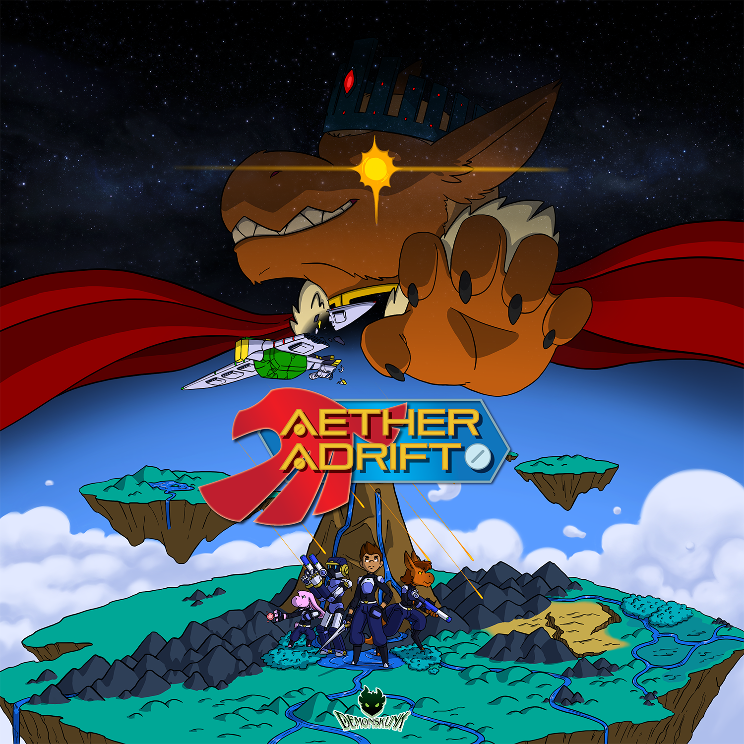 Aether adrift - On a distant alien world of floating islands and a vast cloud sea; humans have crashed landed and must contend with native inhabitants and plunder ancient technological ruins for answers.Grab the free Jumpstart!