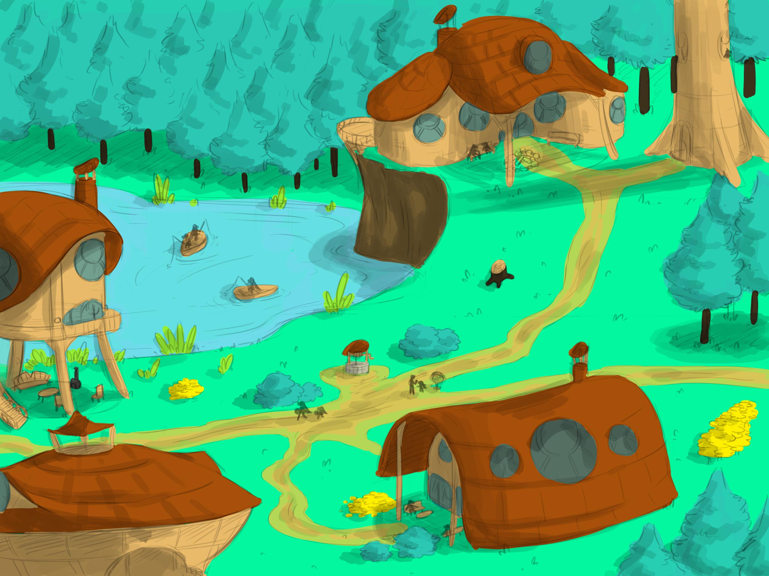A small mikwa village.
