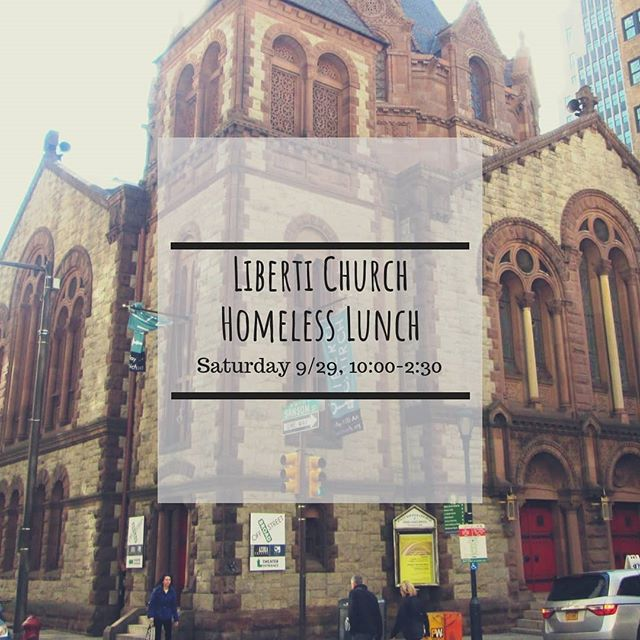 We're headed to Liberti church tomorrow to help serve! We will meet at sbc at 10:00, eat lunch at the liberti, and return by 2:30. Hope you can come with us!