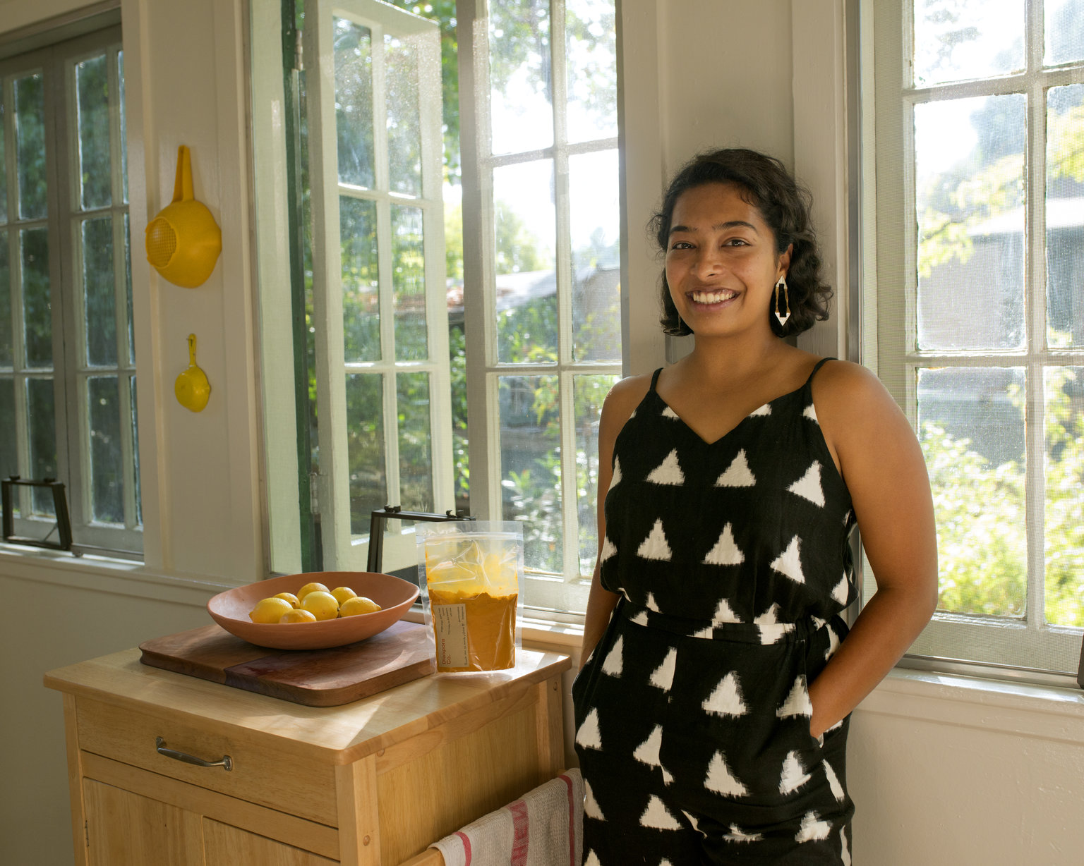 photo by  Jessica Chappe  in my kitchen with her Diaspora Co. turmeric!