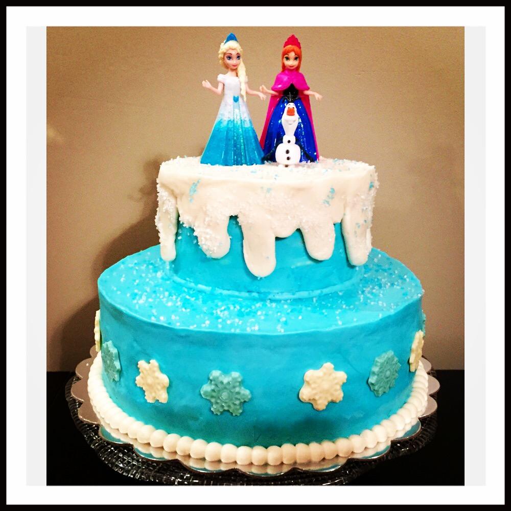 """Frozen"" birthday cake"
