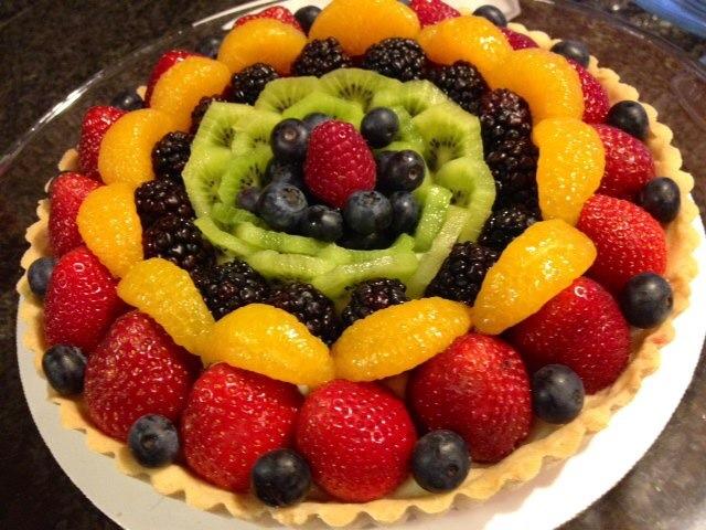 Summer fruit tart