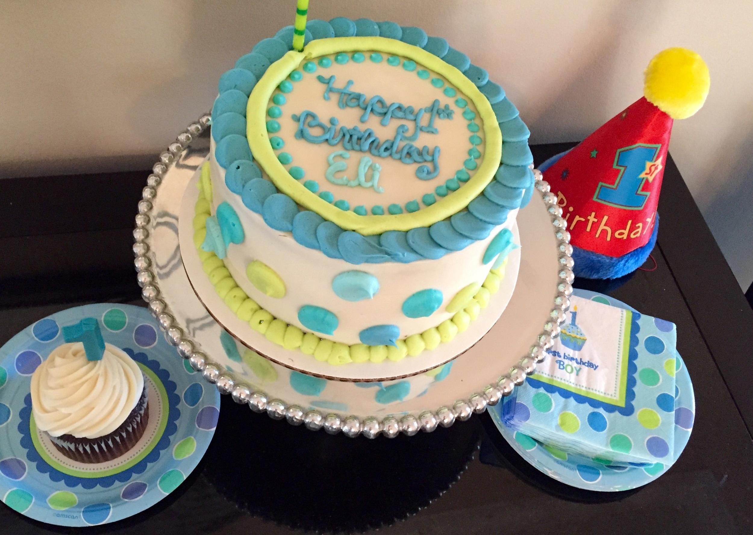 Twins first birthday cake
