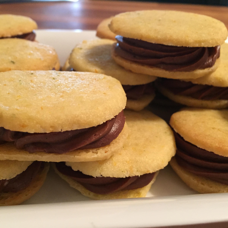 Triple Citrus Shortbread Cookie Sandwich