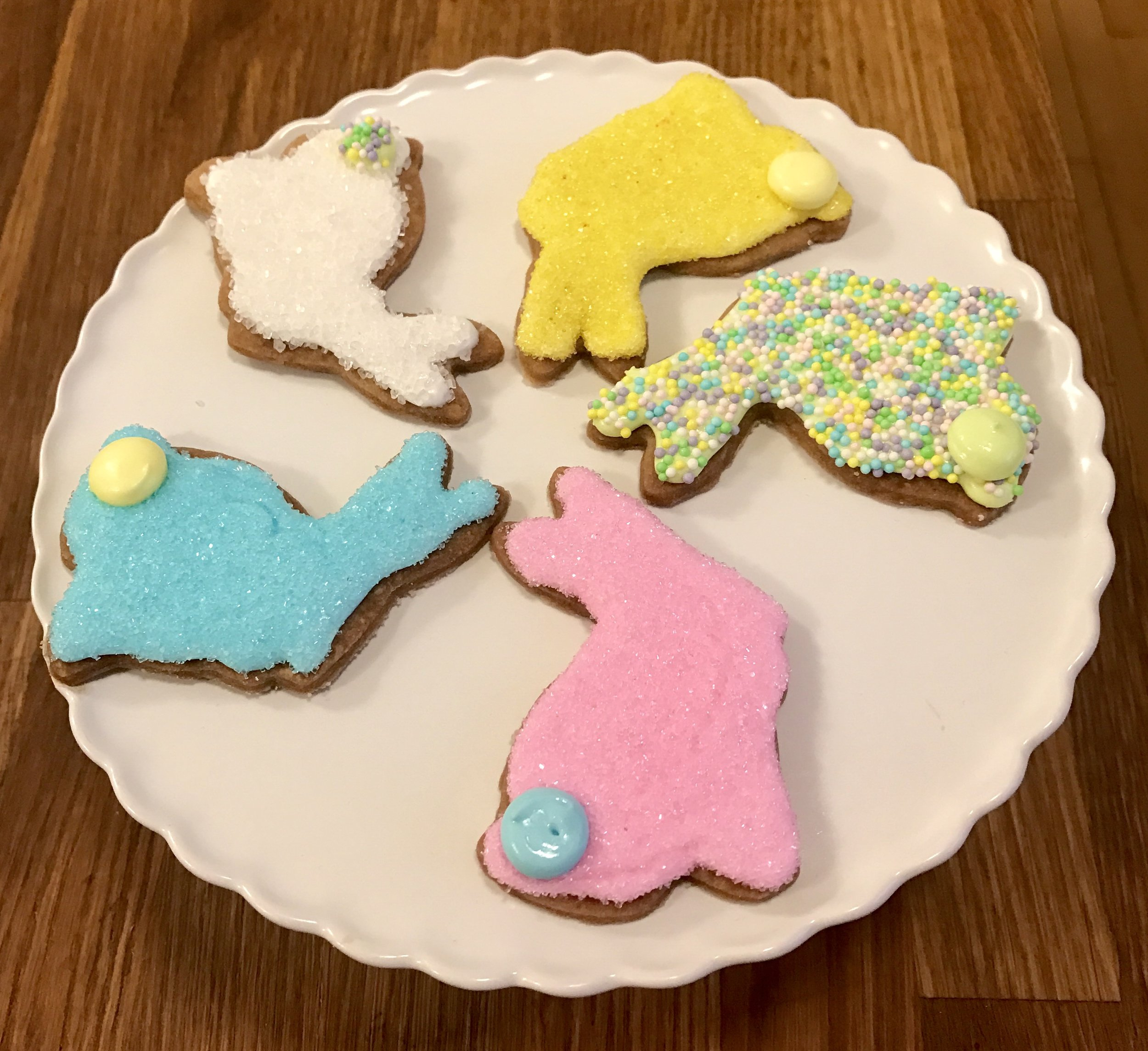 Decorated Easter Bunny Shortbread Cookies