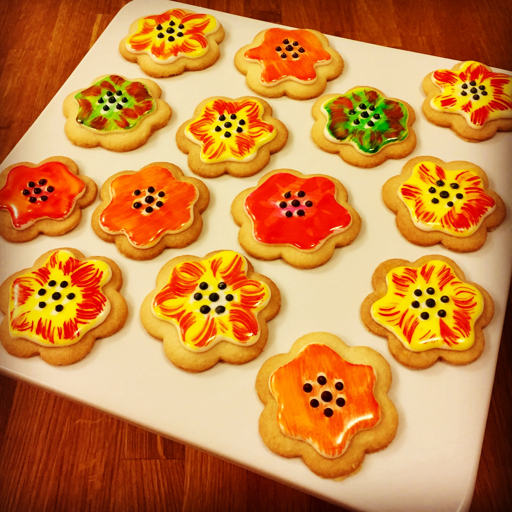 Shortbread Flower Cookies