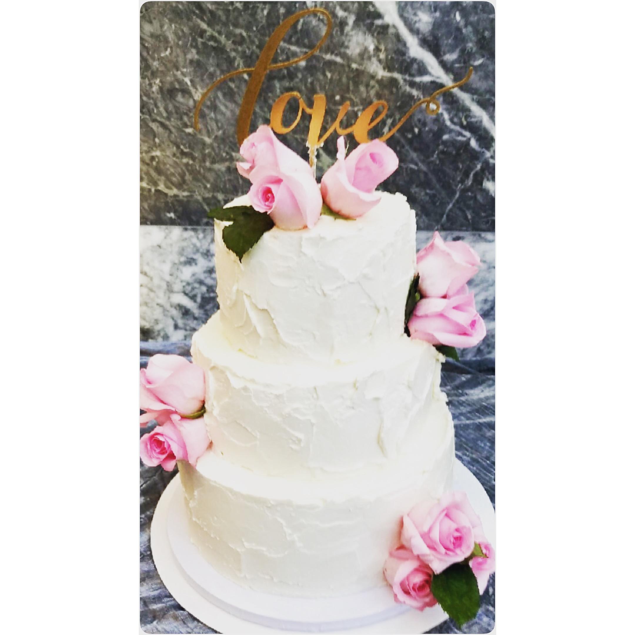 Chris and Emily's Wedding Cake