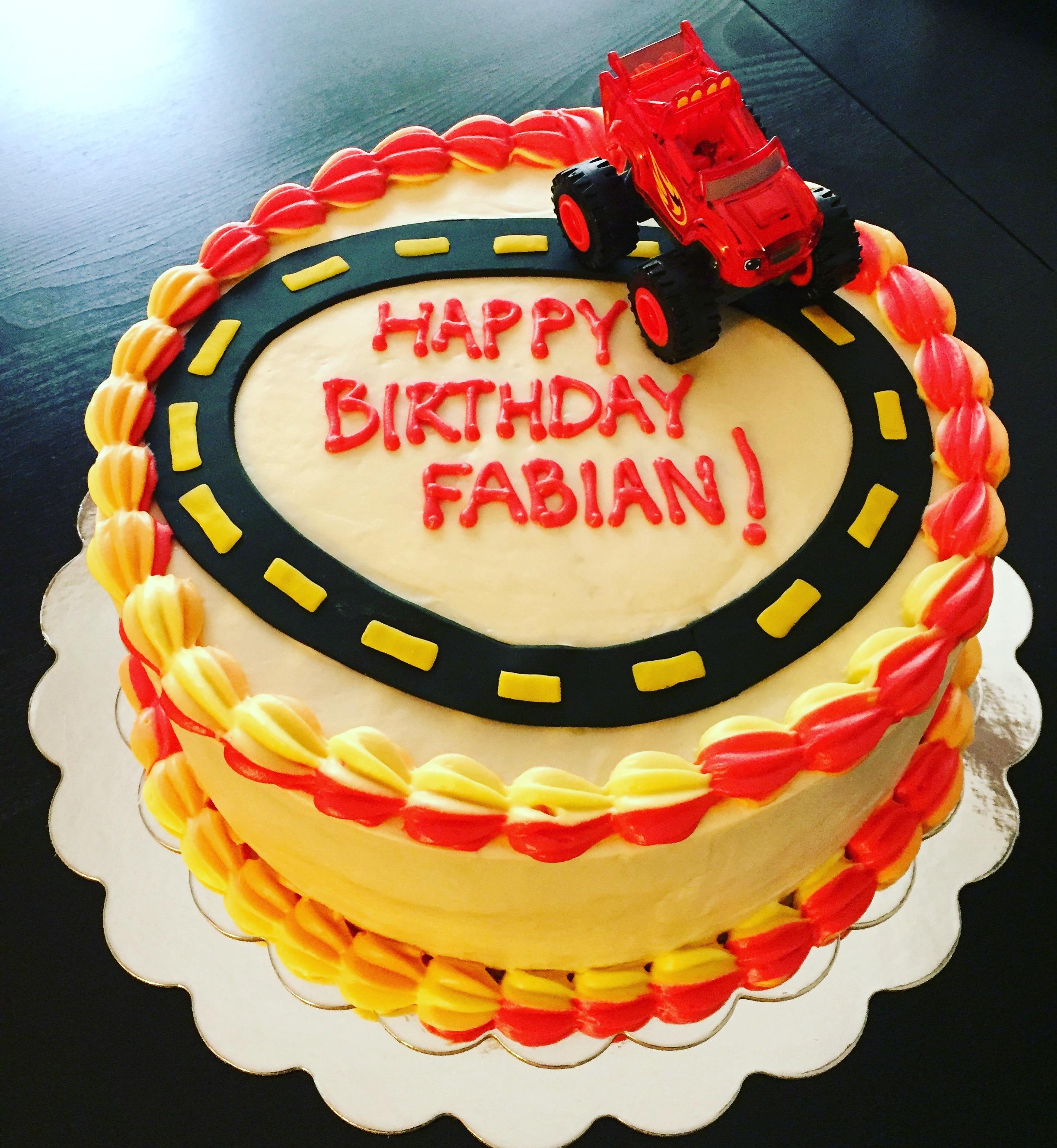 Blaze and the Machine Birthday Cake