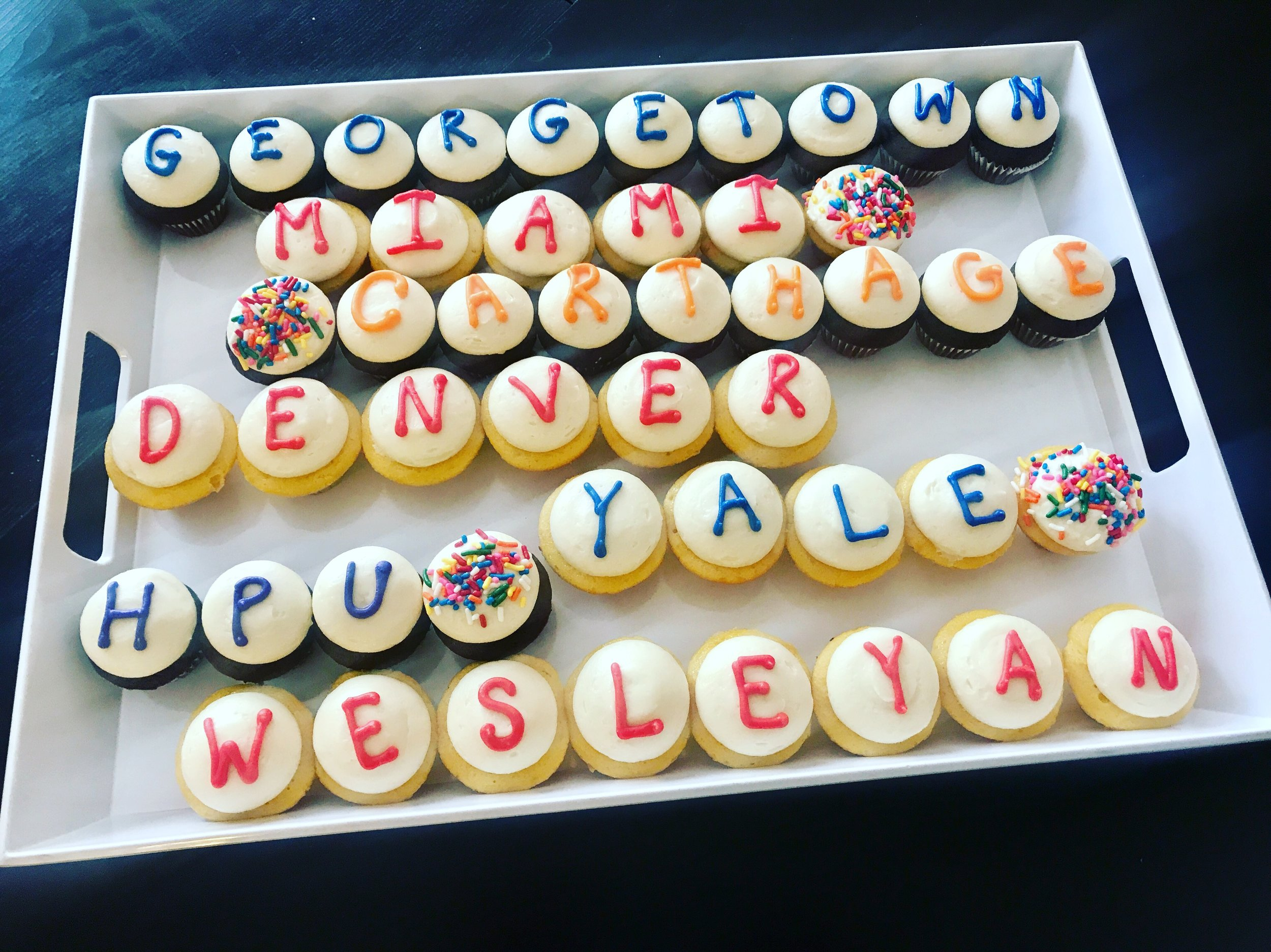 Off to College Cupcakes