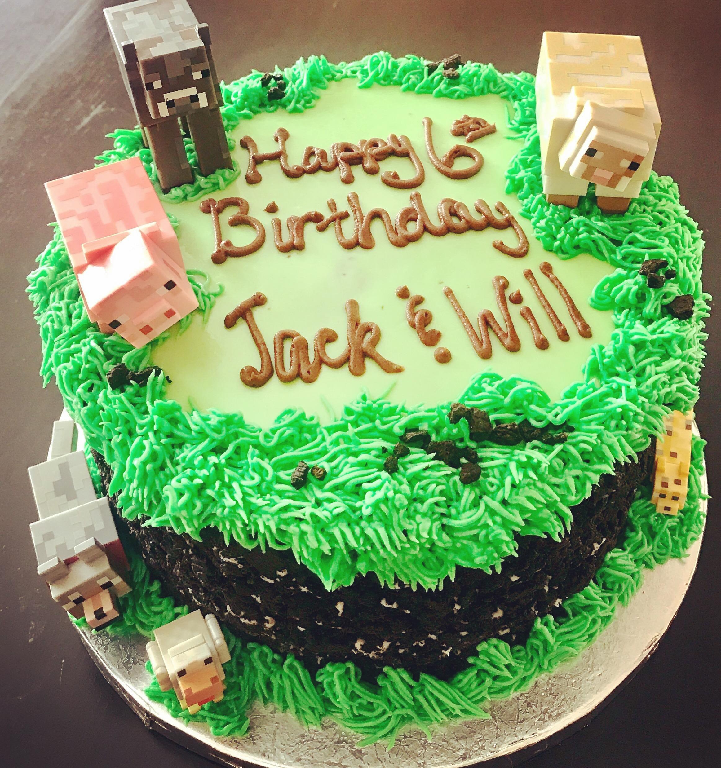 Mine Craft Birthday Cake