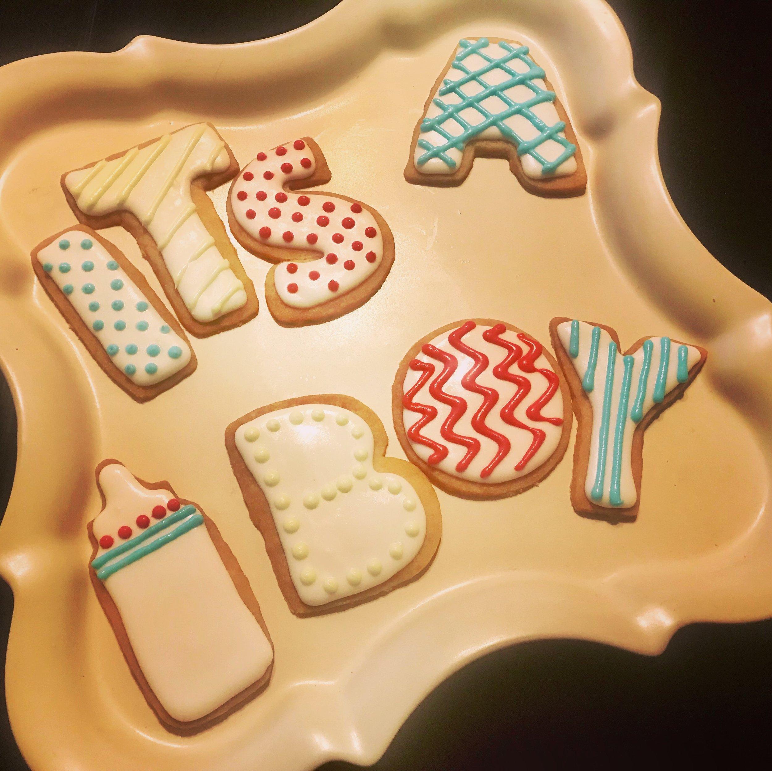Its a boy shortbread cookies