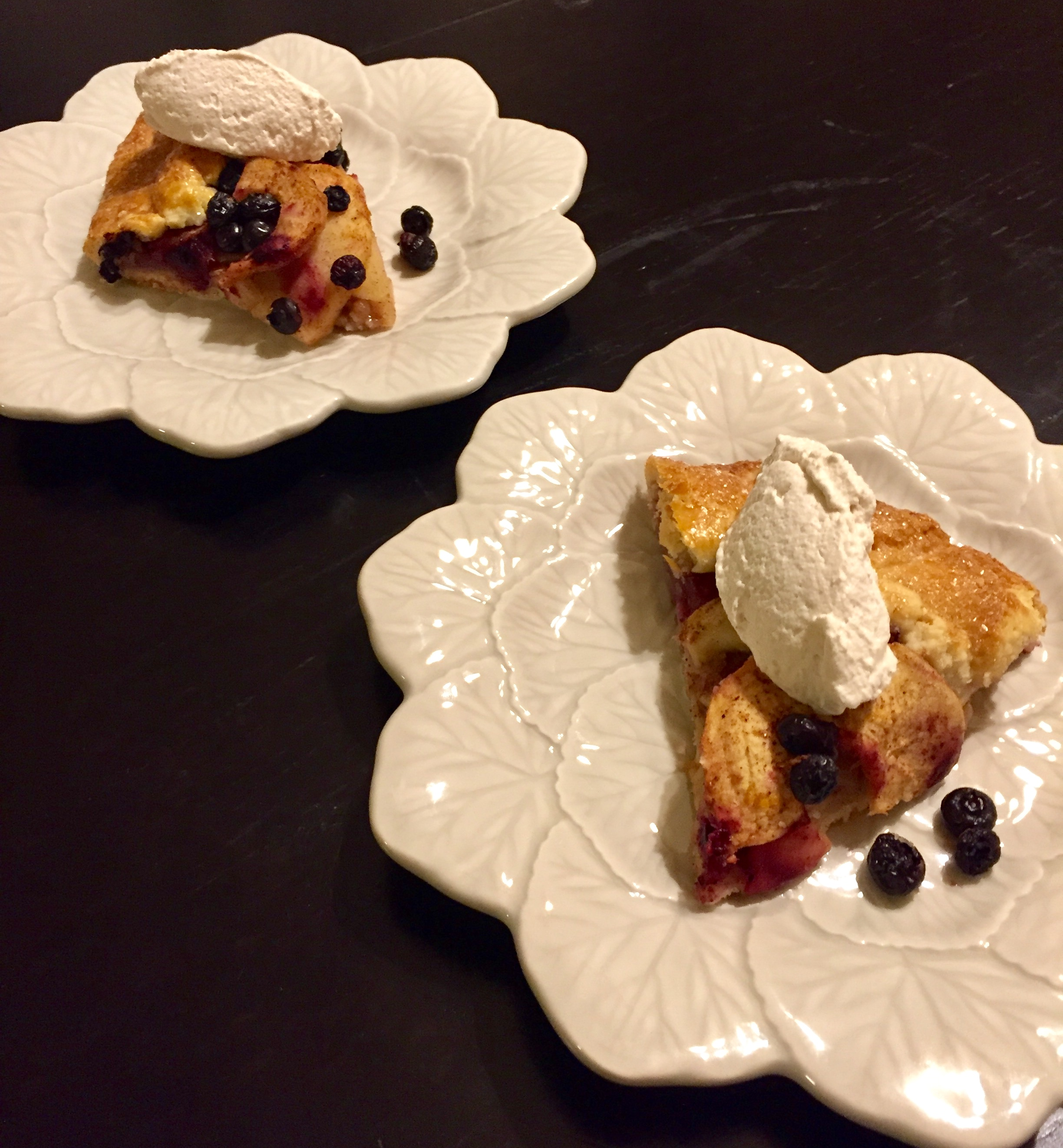 Apple and Blueberry Crostata