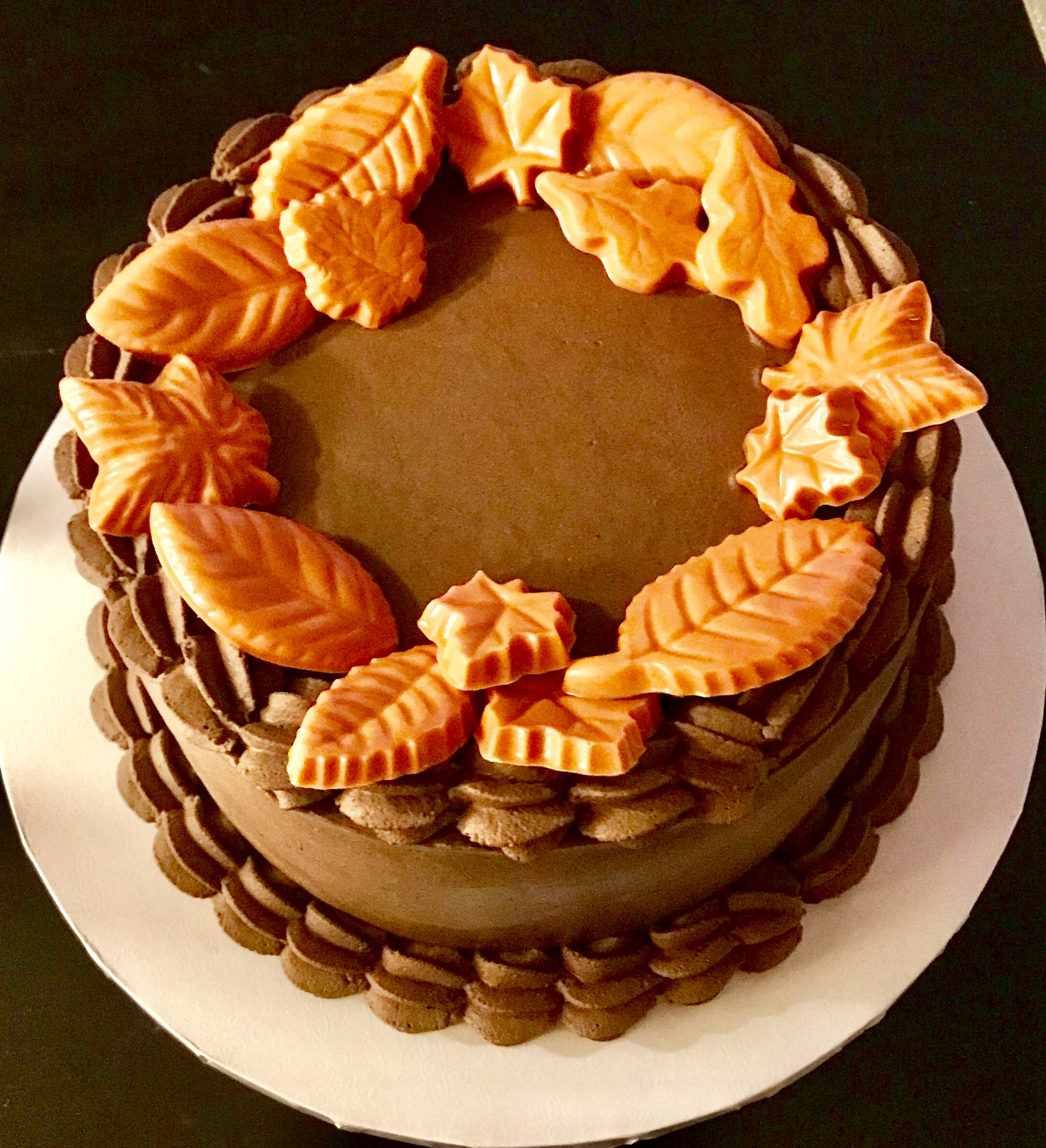 Thanksgiving Chocolate Cake