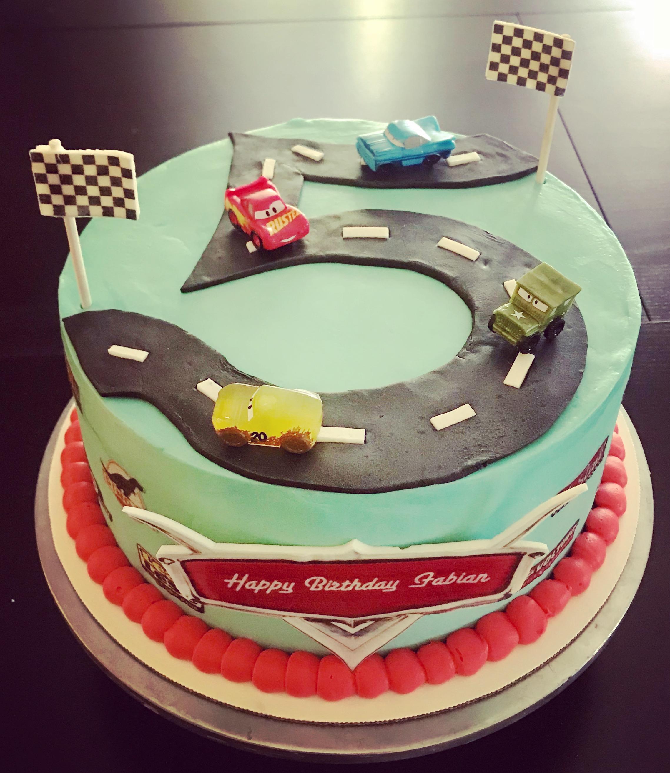 Disney Cars Themed Birthday Cake